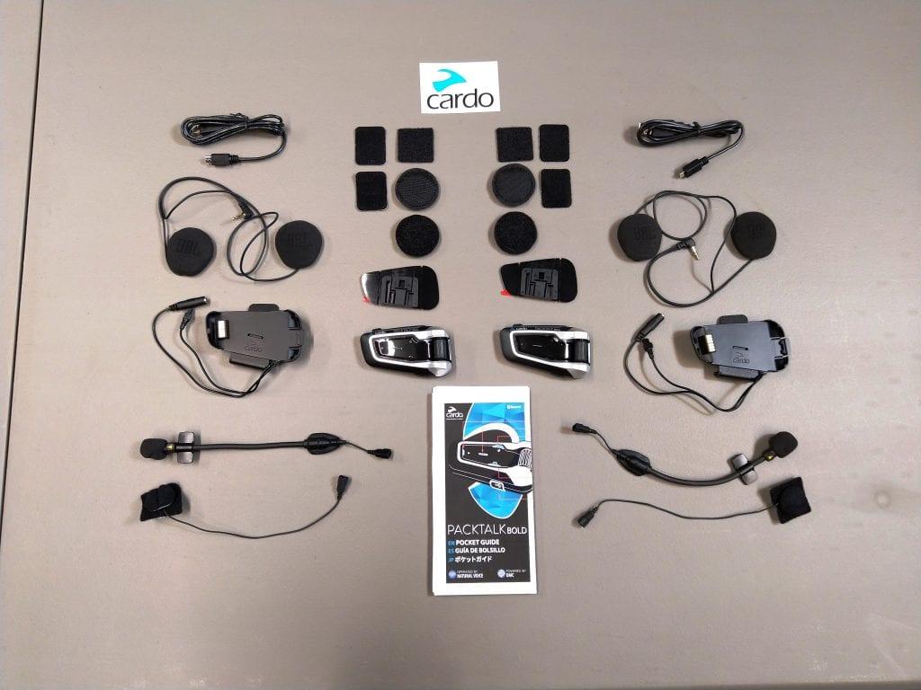 Cardo Scala Rider PACKTALK BOLD kit contents full