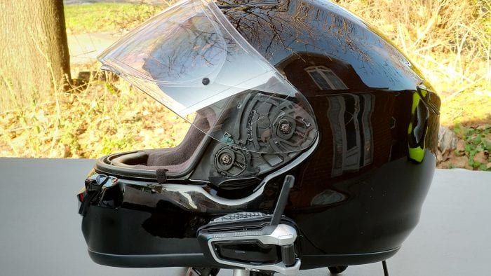Cardo Scala Rider PACKTALK BOLD installed on Shoei QWEST