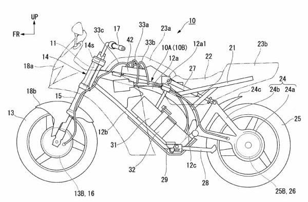 honda electric CBR patent