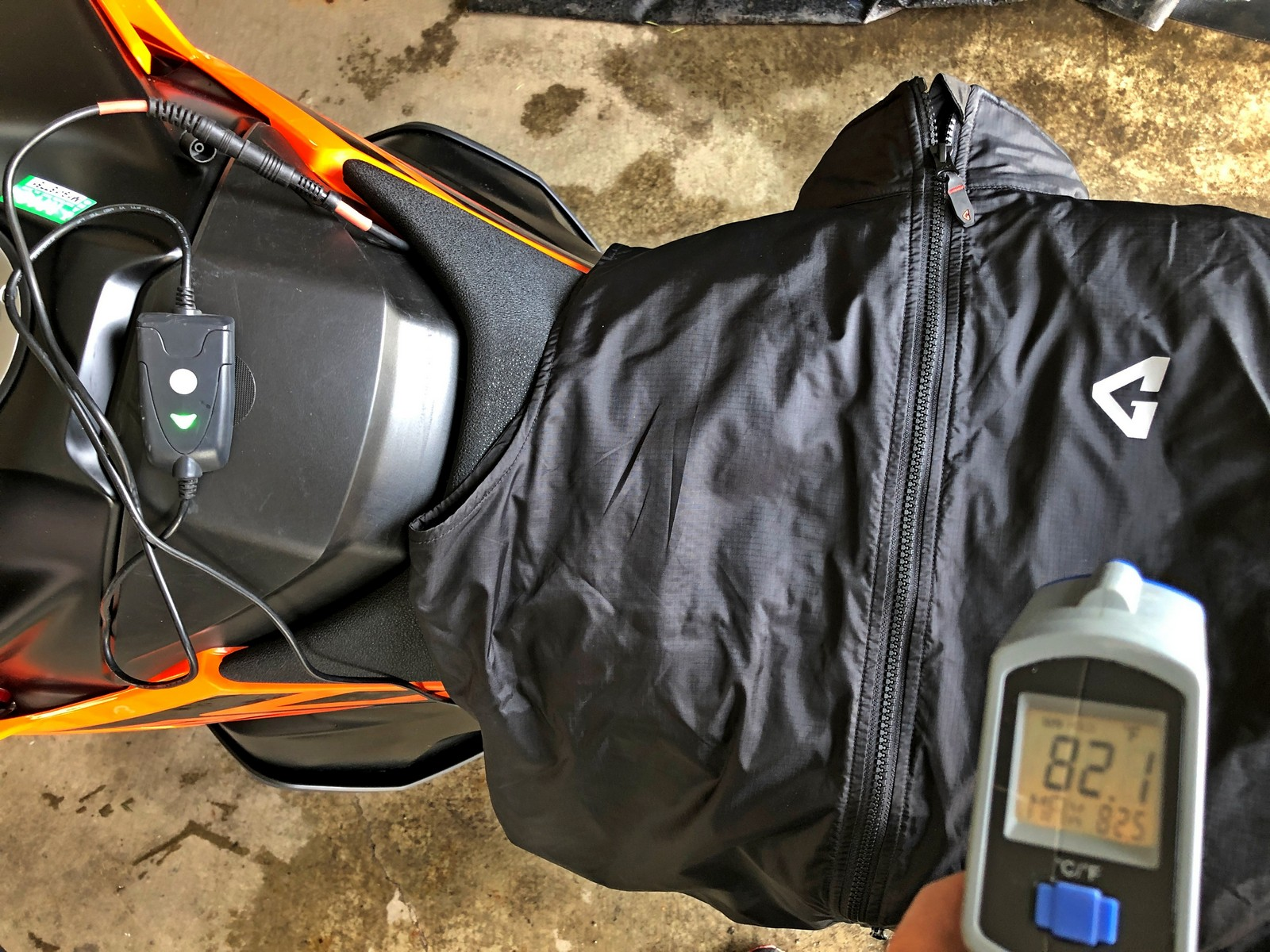 Gerbing Vest heated to 82.1 degrees F