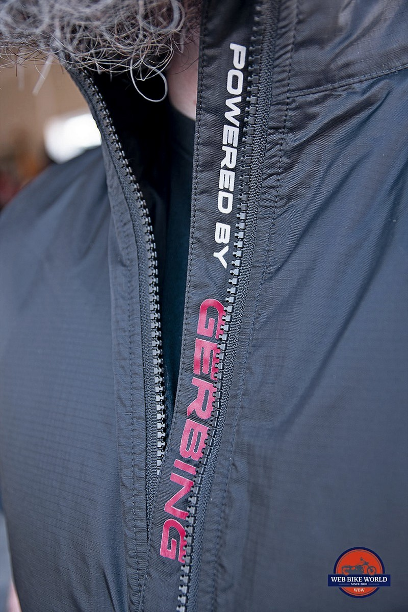 Lettering on the Gerbing Heated Vest.