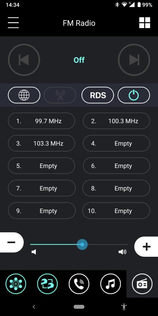 Sena 30K Utility App, FM Radio Menu
