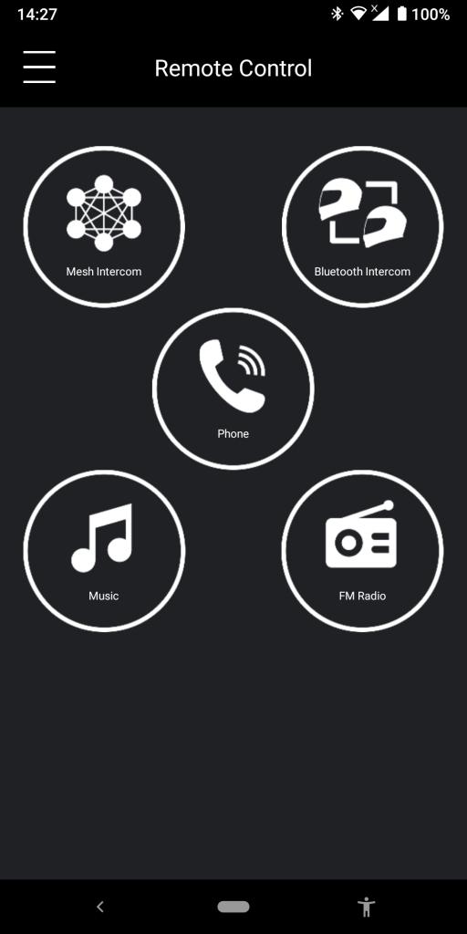 Sena 30k Utility App, Remote Control Screen