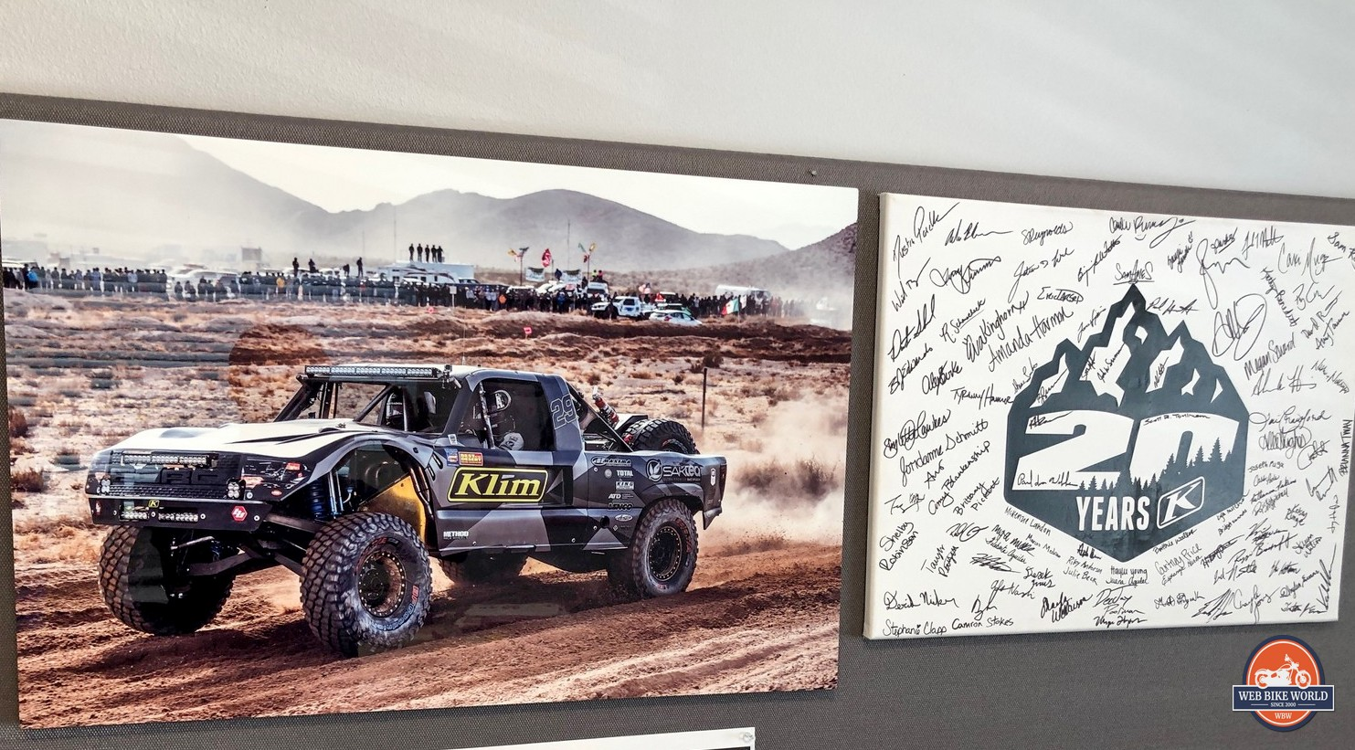 Photos at Klim HQ.
