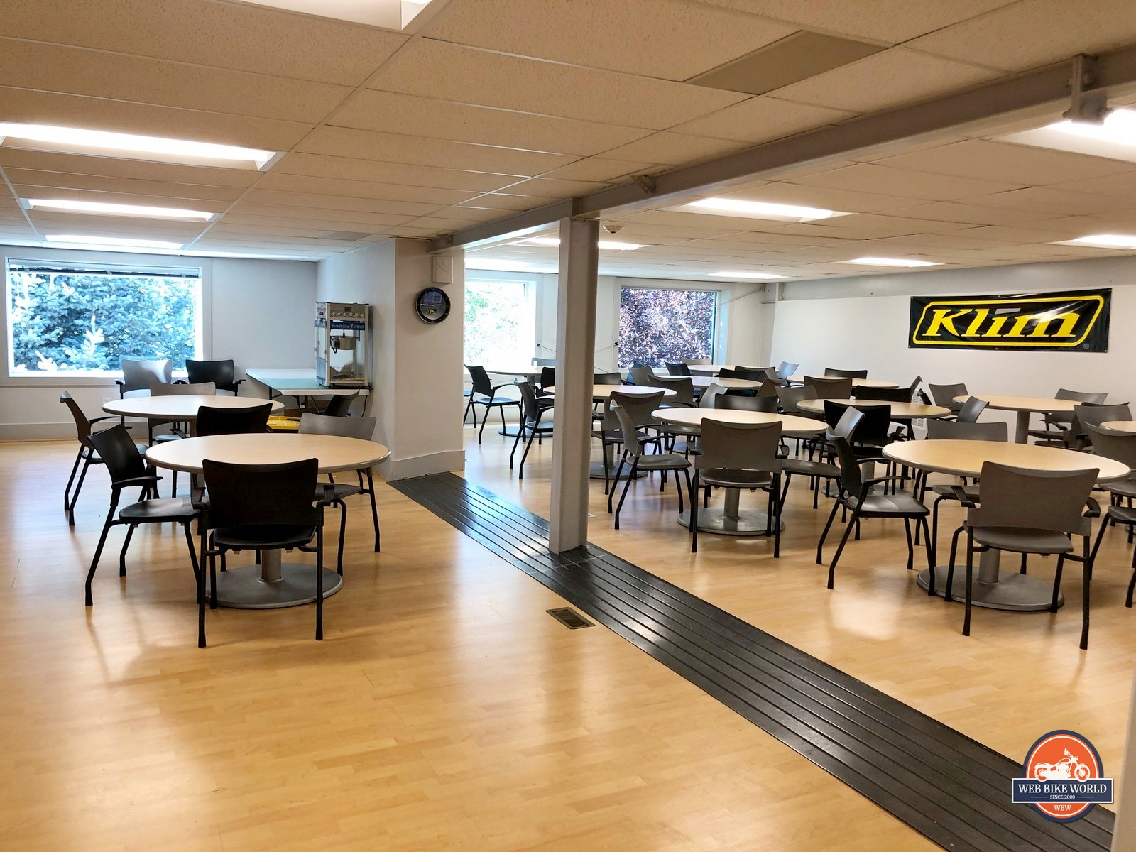 The lunchroom at Klim HQ.