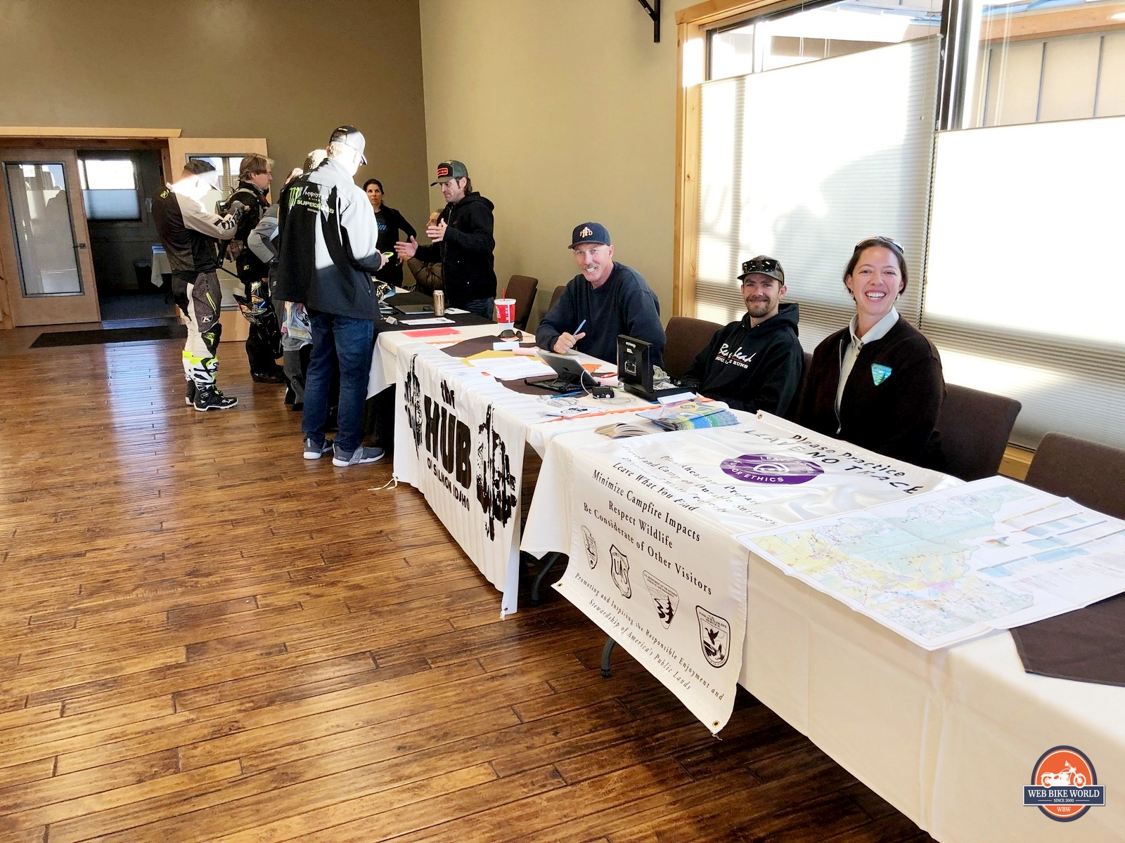 Rally volunteers at the Klim Cow Tagz XL Rally 2019.