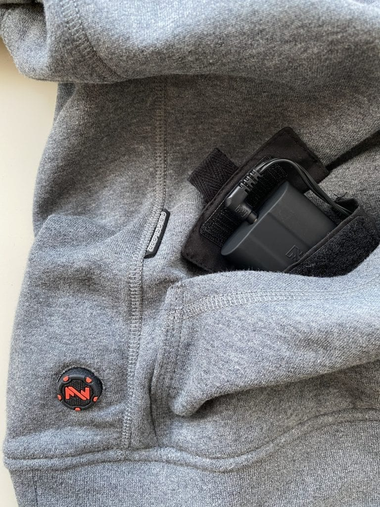 Mobile Warming Phase Hoodie Pocket Battery Slot