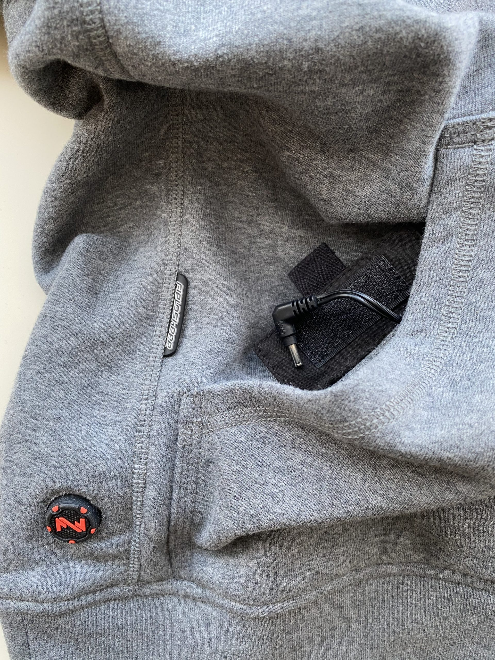 Mobile Warming Phase Hoodie Velcro Pouch for Battery
