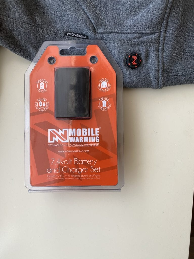Mobile Warming Phase Hoodie 7.4 Volt Battery Pack