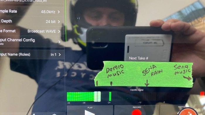 My iPad app showing the volume of the Domio Moto sound in my Arai DT-X helmet.