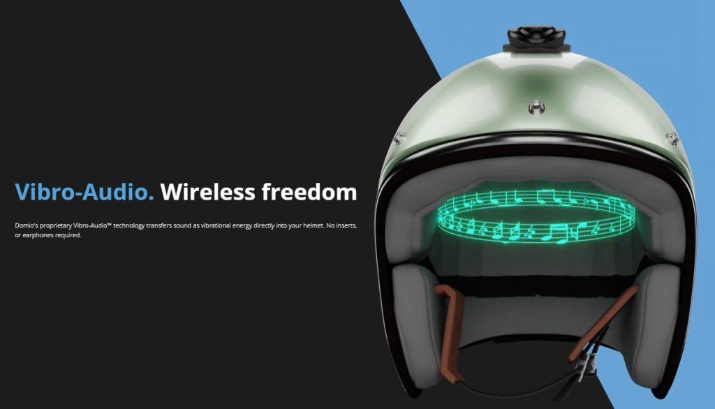 The Domio Moto micro vibration tech illustrated.