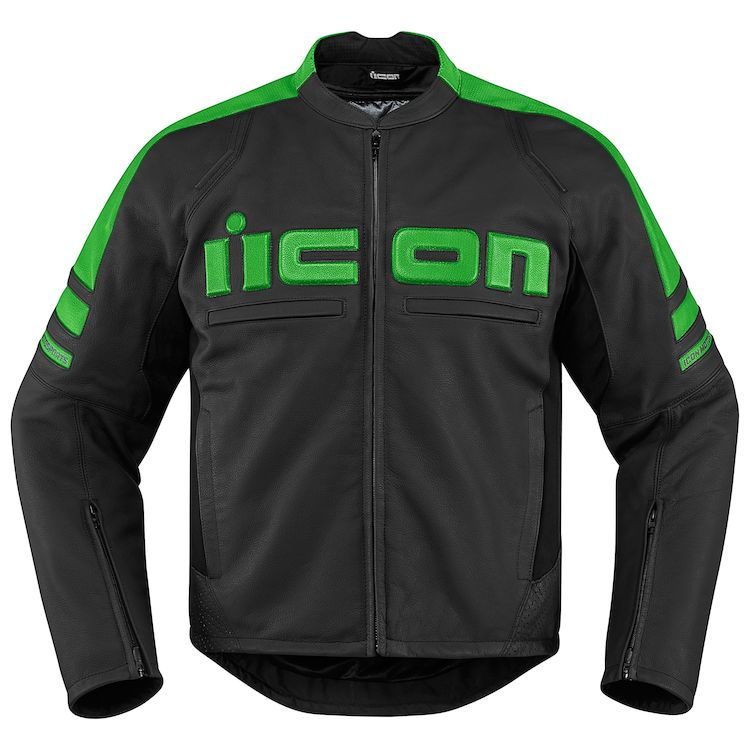 icon motorhead jacket green