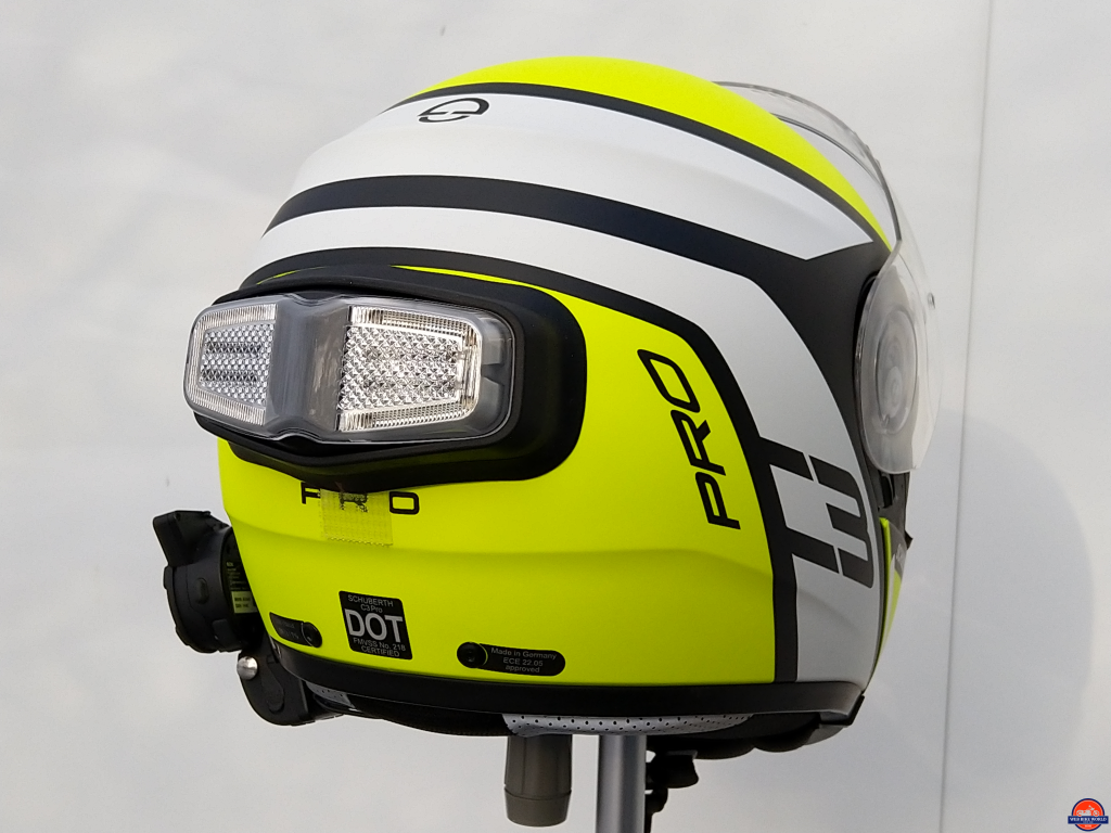 inView, Helmet Module mounted on Schuberth C3 Pro Echo, view 2