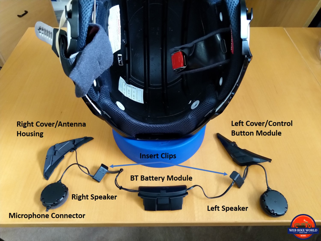 SRL2 in J-Cruise II, Installation, 3 of 15, helmet prepped, kit laid out for installation, labelled