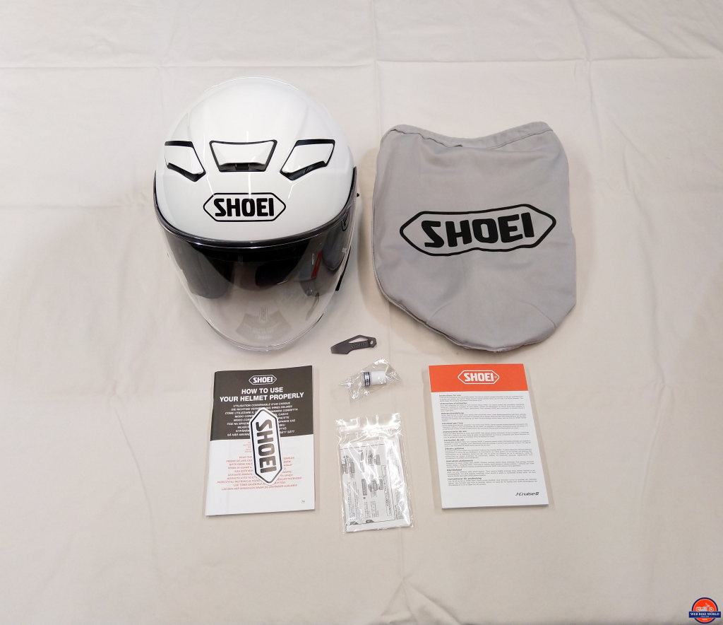 Shoei J-Cruise II, everything packed in the helmet box