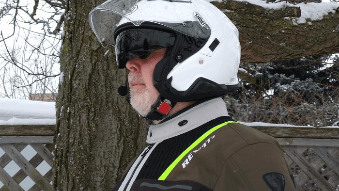 Shoei J-Cruise II, helmet worn, 2 of 3, effective sun visor with very good clearance