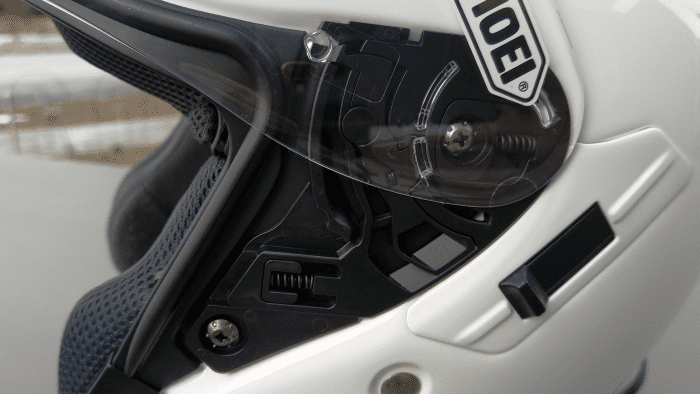 Shoei J-Cruise II, QRSA face shield mechanism looks complex, very simple to use