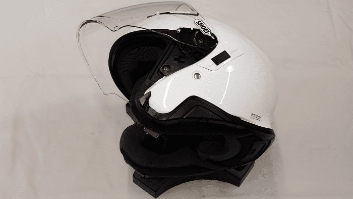 Shoei J-Cruise II, sunvisor and faceshield sequence, 1 of 3