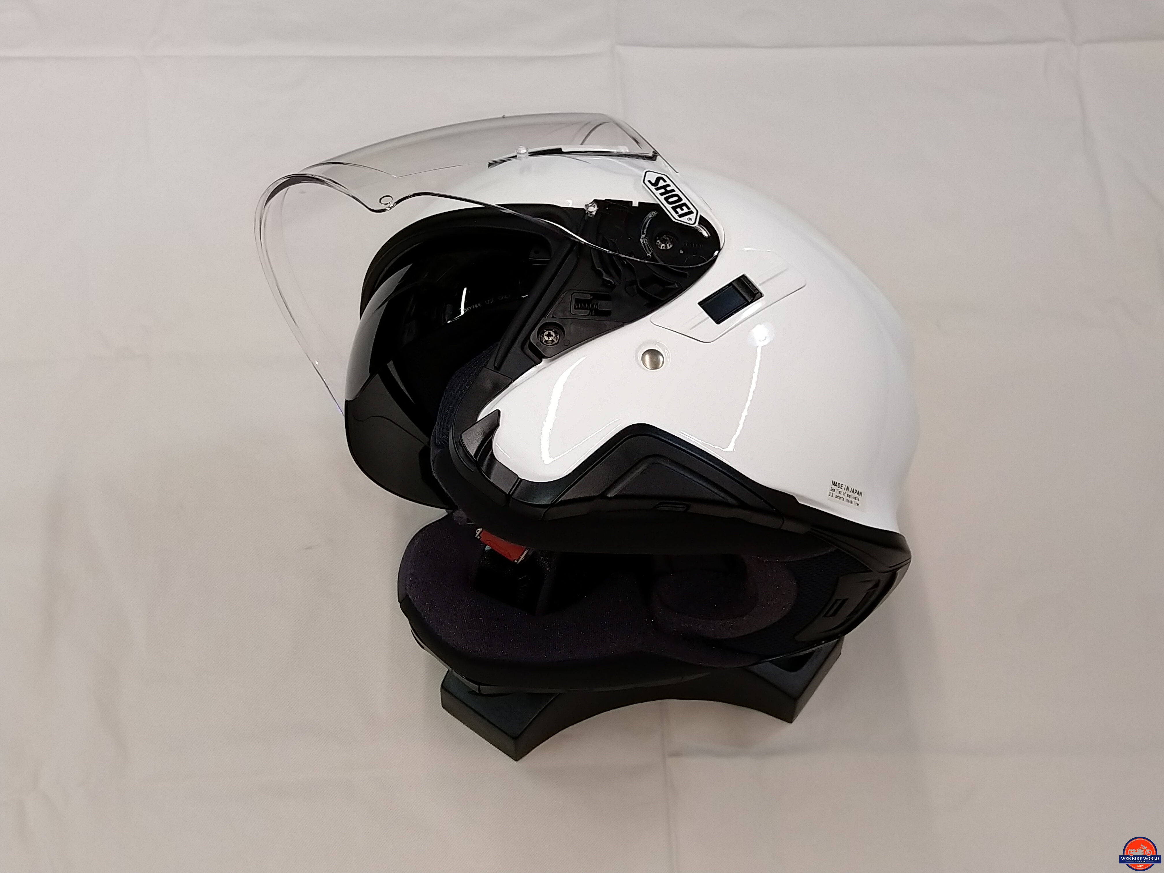 Shoei J-Cruise II, sunvisor and faceshield sequence, 2 of 3