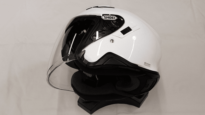 Shoei J-Cruise II, sunvisor and faceshield sequence, 3 of 3