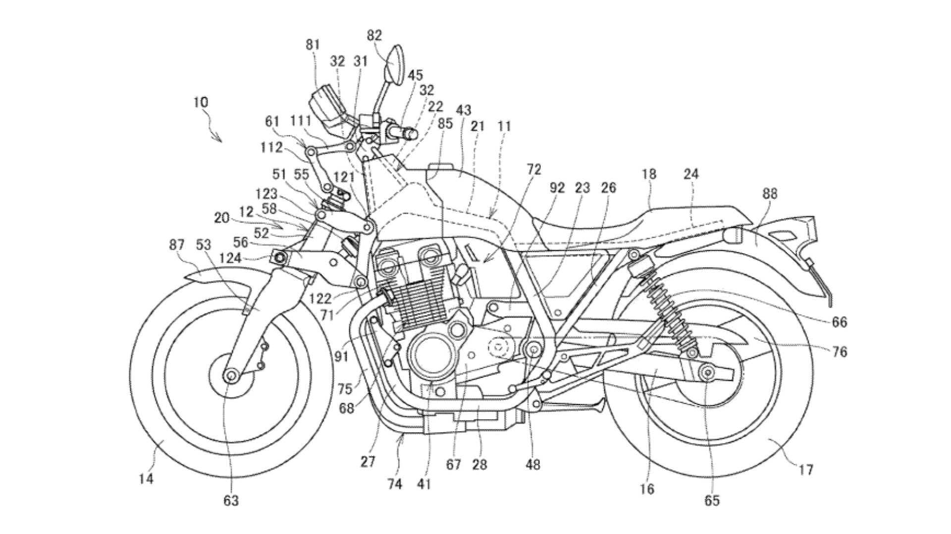 honda patent front suspension