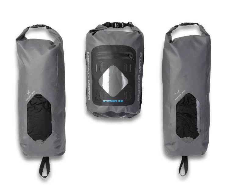 The dry bags from the Mosko Moto Reckless 80 L v3.0 Revolver luggage system