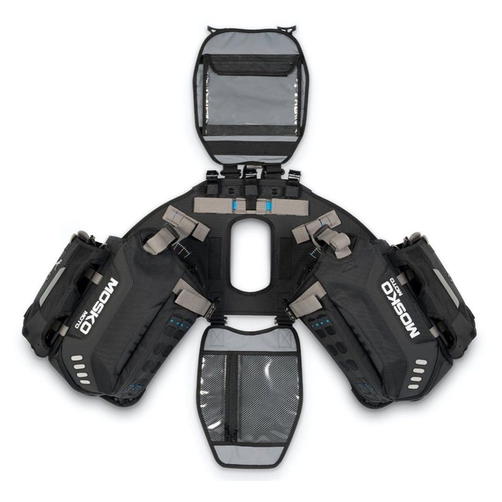 the harness for the Mosko Moto reckless 80L v3.0 Revolver luggage system