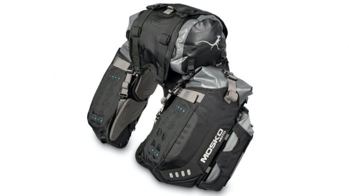 the Mosko Moto Reckless 80L v3.0 Revolver Luggage