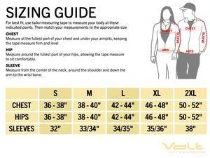 volt heat size guide