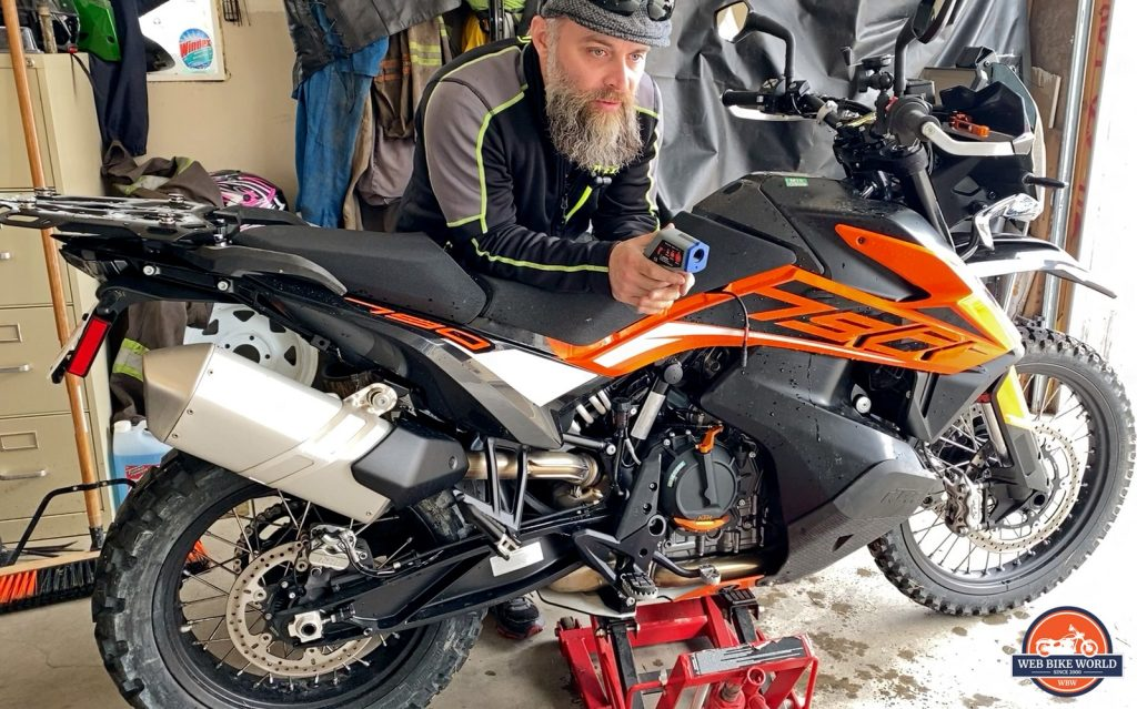 Me with my KTM 790 Adventure.