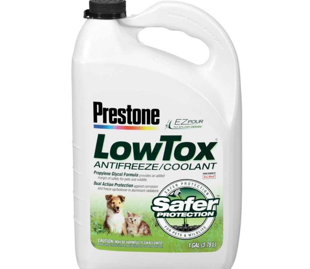 Prestone Low Tox Coolant.
