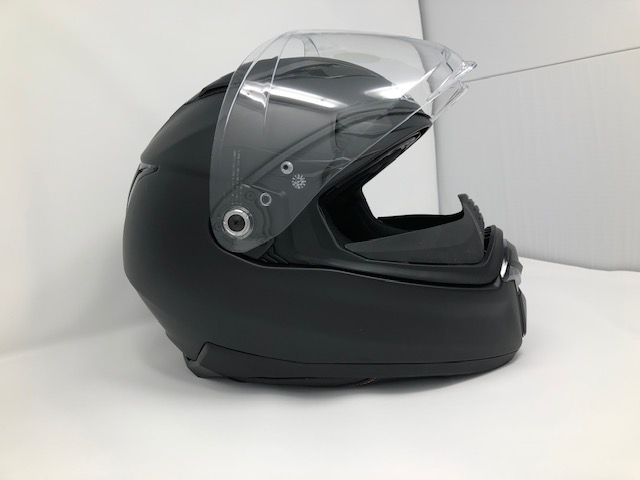 HJC F70 visor propped open