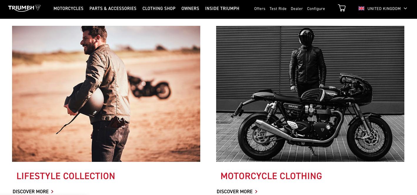 Triumph online shop