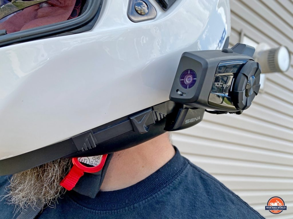 The Sedici Strada II sun visor actuation switch.