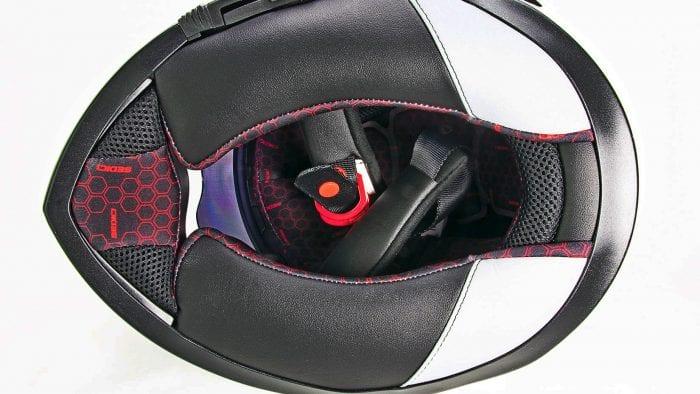 The Sedici Strada II helmet neckroll padding.