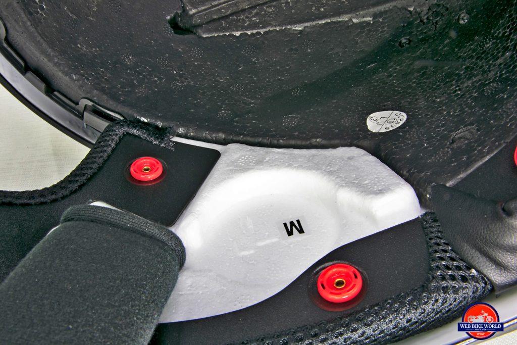 The Sedici Strada II helmet speaker pockets.
