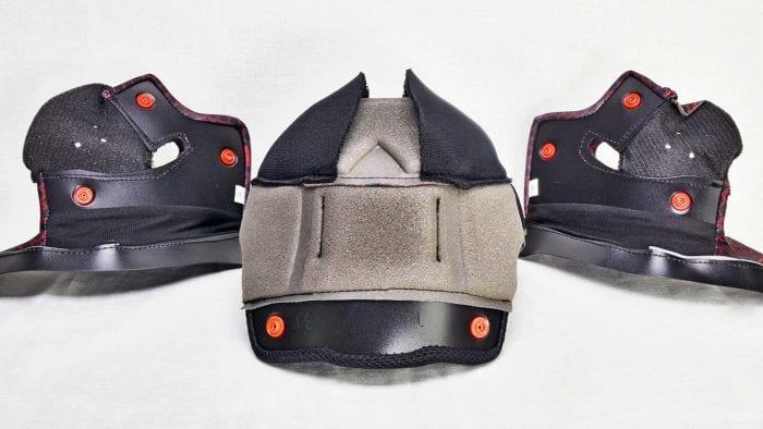 The Sedici Strada II helmet comfort liner collection.