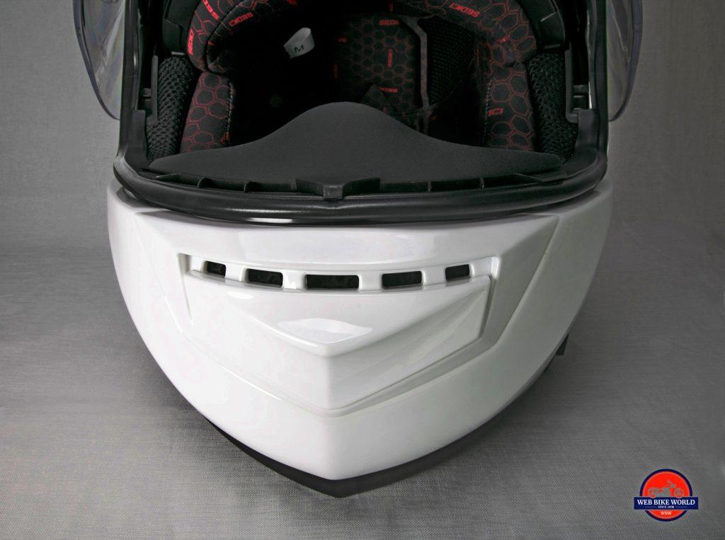 The Sedici Strada II helmet chin vent.