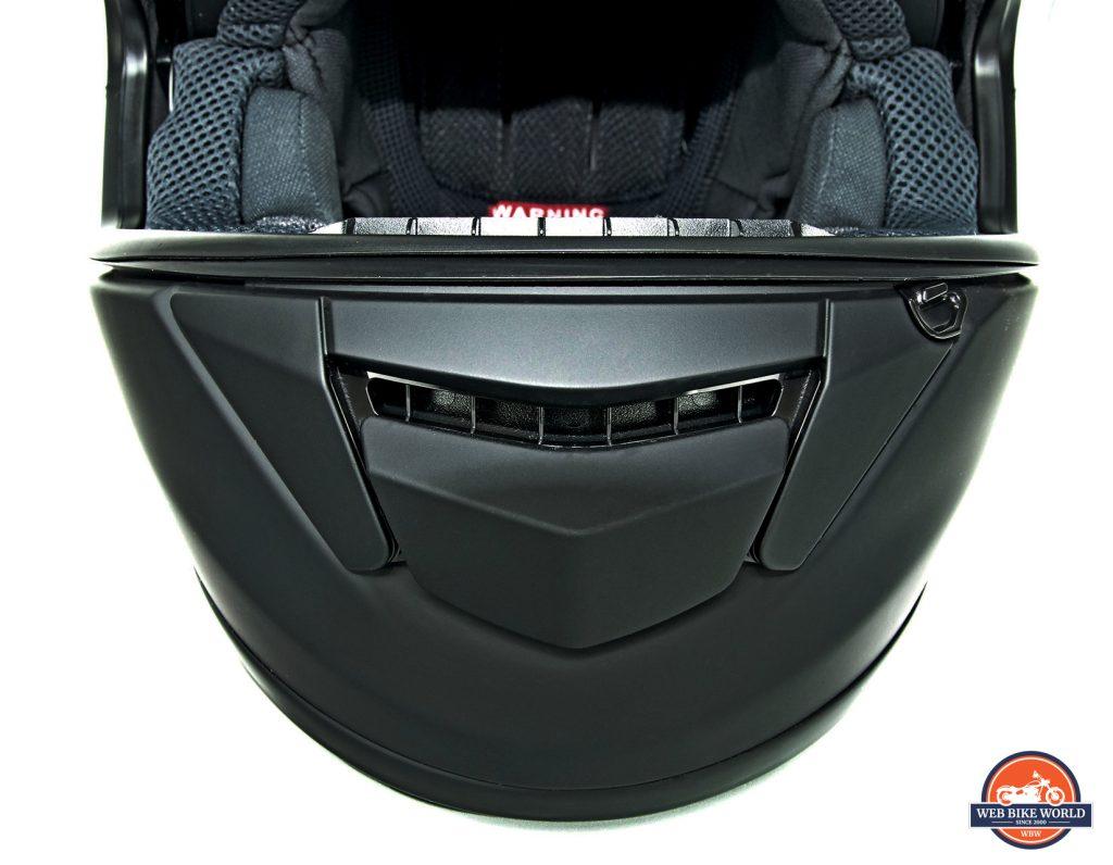 The Shoei GT Air chin bar vent