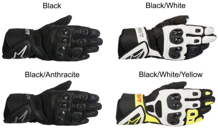 alpinestars sp air gloves colors