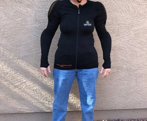Forcefield Pro Jacket X-V2 front view untucked to show the length