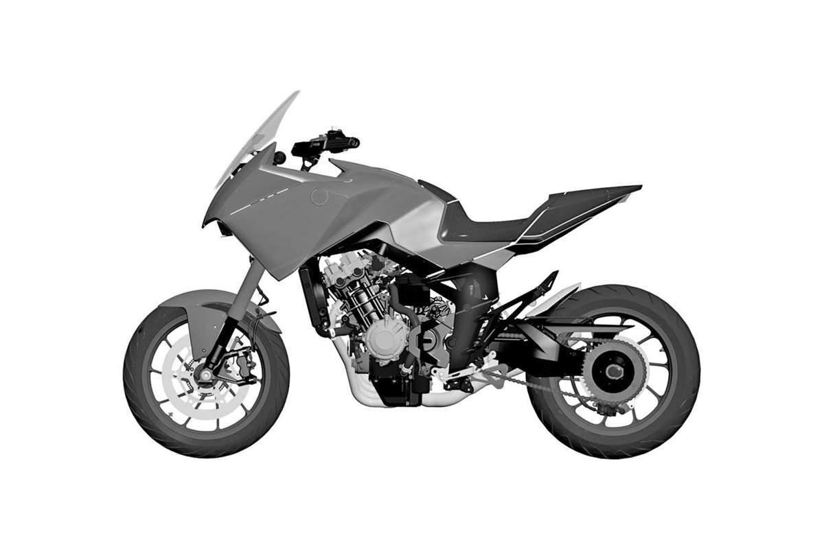 Honda CB4X patent drawing