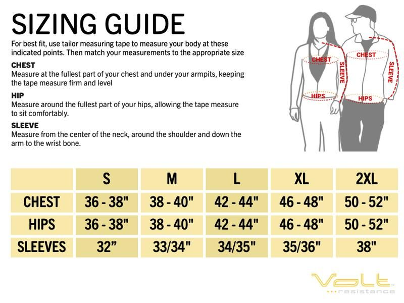 volt heat sizing guide