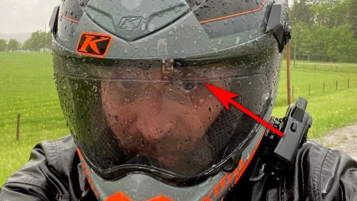The Klim Krios Pro Pinlock gets in my line of sight sometimes.