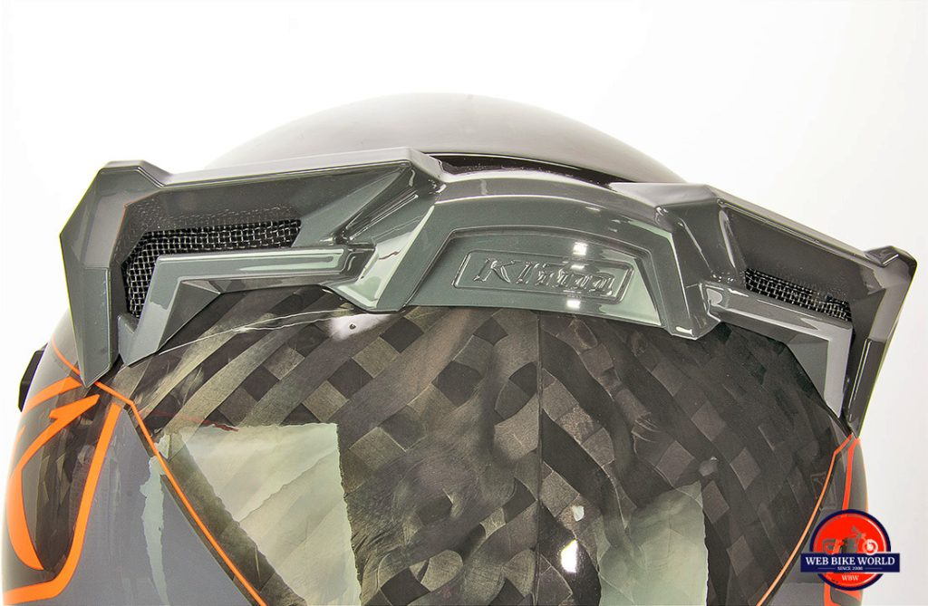 The Klim Krios Pro exhaust ports.