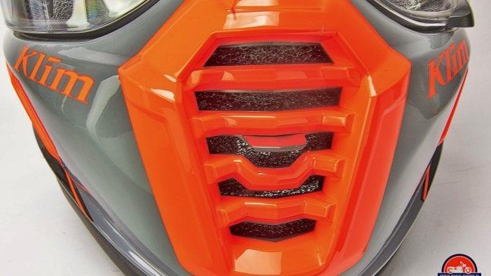 The Klim Krios Pro chin bar vent.