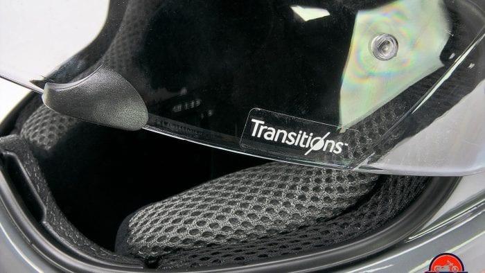 The Klim Krios Pro Transitions visor.