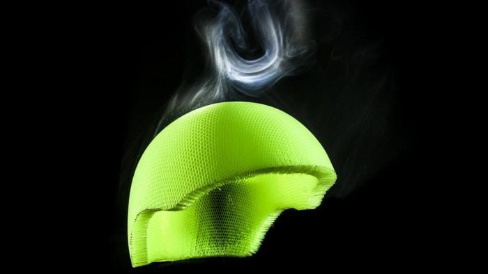 Koroyd helmet liner material.