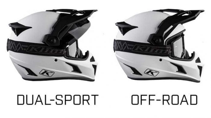 4 configurations of the Klim Krios Pro.