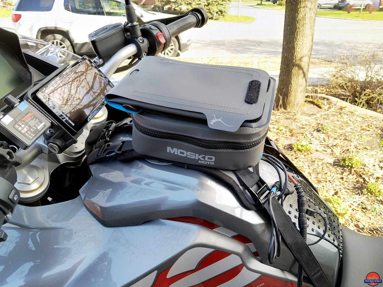 mosko moto pico tank bag & navigator pocket